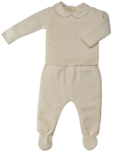 Carica l'immagine nel visualizzatore di Gallery, Completino di cotone NaturaPura/Knitted sweter and trousers set - HOPLA' PARMA Baby Collections