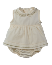 Carica l'immagine nel visualizzatore di Gallery, Pagliaccetto bimba NaturaPura/ Voile and jersey rompers with embroidery details - HOPLA' PARMA Baby Collections
