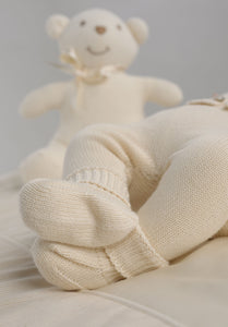 Scarpine in cotone NaturaPura/ Knitted booties - HOPLA' PARMA Baby Collections