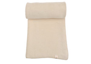 Copertina NaturaPura/ Garter stitch throw - HOPLA' PARMA Baby Collections