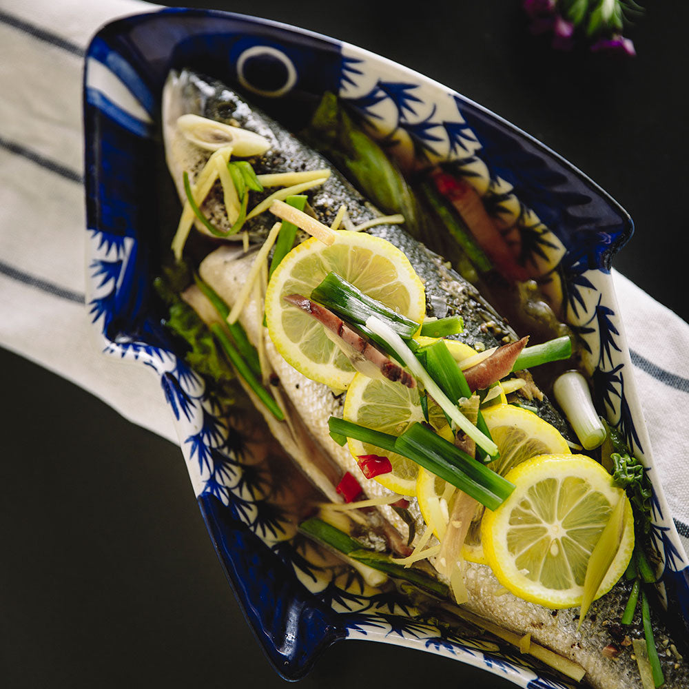 Steamed Whole Seabass