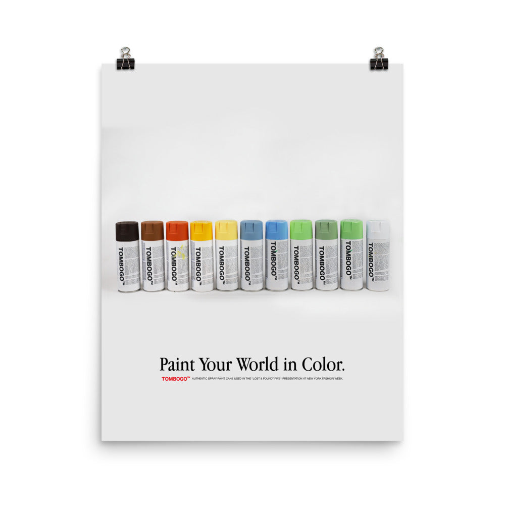 Paint Your World in Color Poster