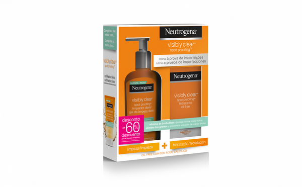 Neutrogena Visible Clear Hidratante 50 mL + Gel Limpeza 20 mL