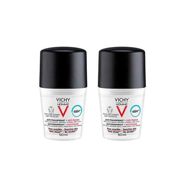 Vichy Homme Deo Roll On Manchas 50 mL Duo