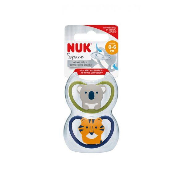 NUK Space Chup Silicone T1 0-6M X2