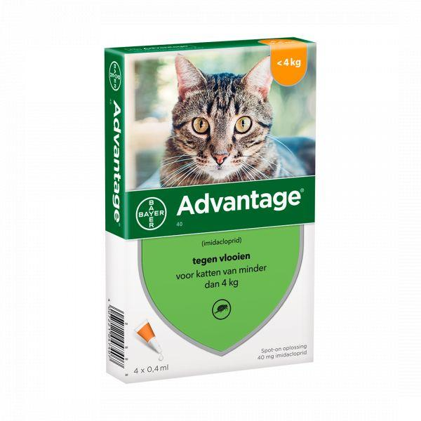 Advantage Gato Sol Uncao 0 4ml X 4 =<4kg sol.