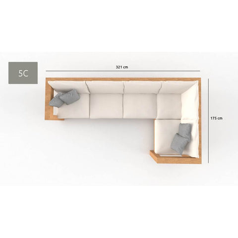 Image of Loungeset 5-zits THUYN