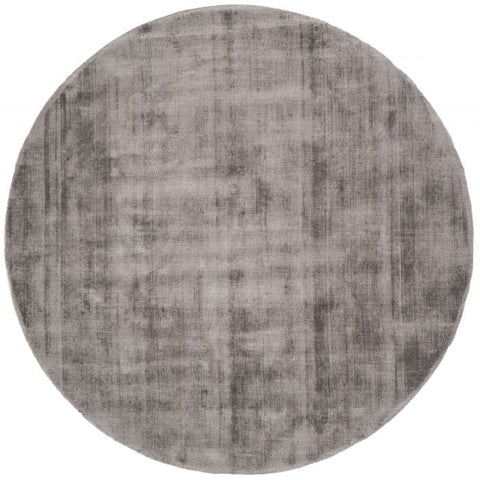 Karpet Viscose Rond Dark Grey ø150 cm