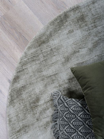 Image of Karpet Viscose Rond Green ø200 cm