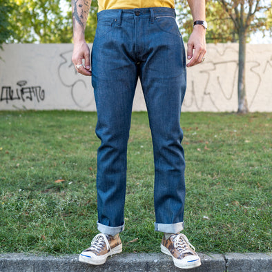 B-01 Slim Jeans 12 oz. Steel Blue Selvedge
