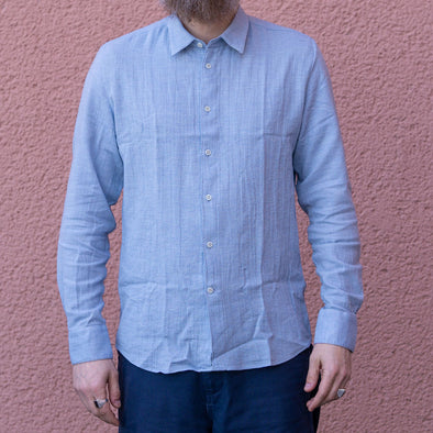 Feel Good Shirt in a Light Blue Very Soft Japanese Organic Cotton