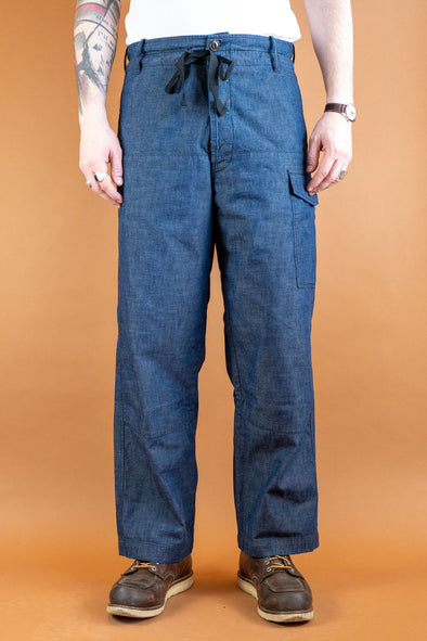 Cargo Pants Military Denim 8oz. Indigo