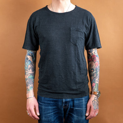 Pocket-T-Shirt Hemp Black