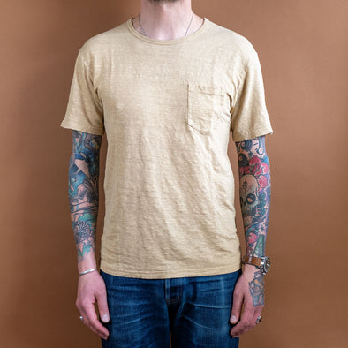 Pocket-T-Shirt Hemp Vanilla