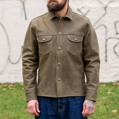 Copeland Shirt Cow Leather Bottle Green