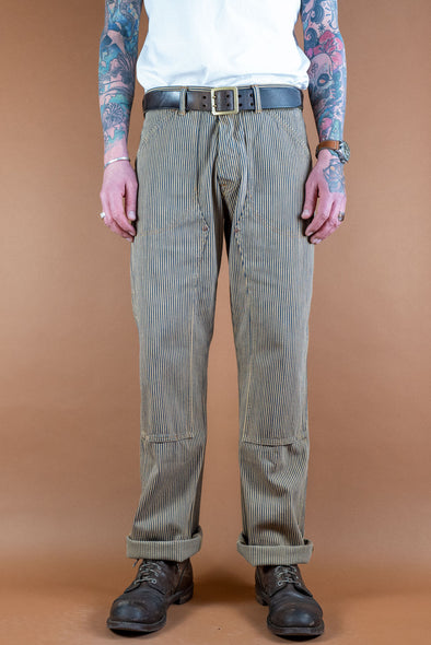 Wendell Pants, Indigo / Root Hickory Stripe