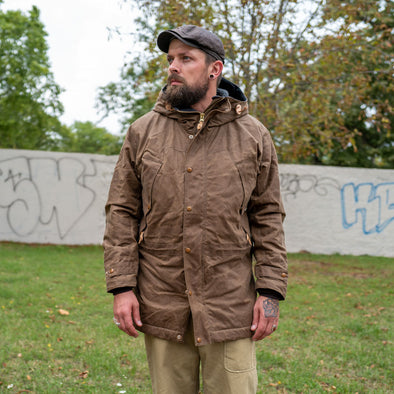 Long Mountain Jacket Waxed Dark Tan