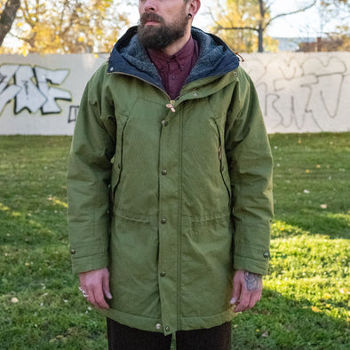 Long Mountain Jacket Fleece Lining Green