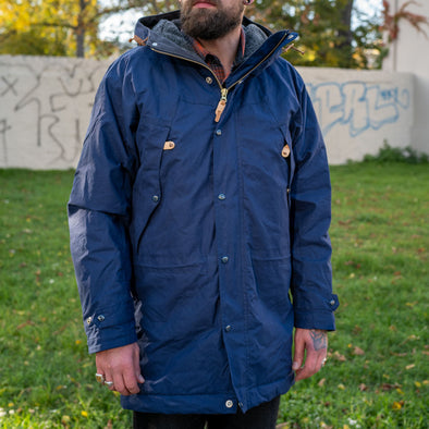 Long Mountain Jacket Fleece Lining Navy
