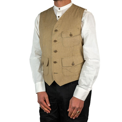 Miner Vest Wool Cotton Camel