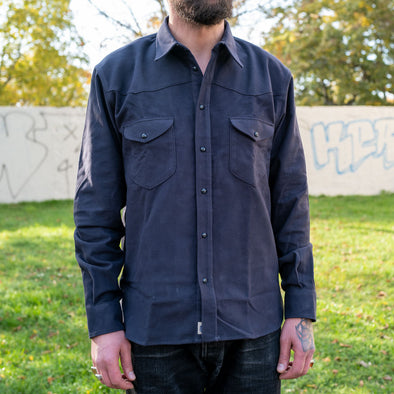 Manolito Shirt Greyblue Moleskin