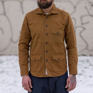 Cotton Shirt Jacket Duckbrown