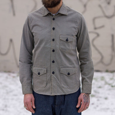 Cotton Shirt Jacket Hickory