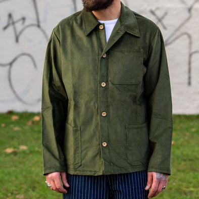 Work Jacket Corduroy Green