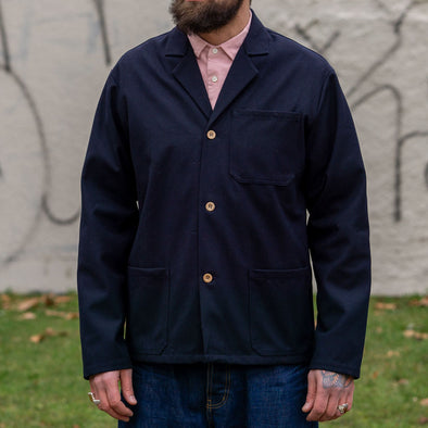 Work Jacket Panno Lana Navy