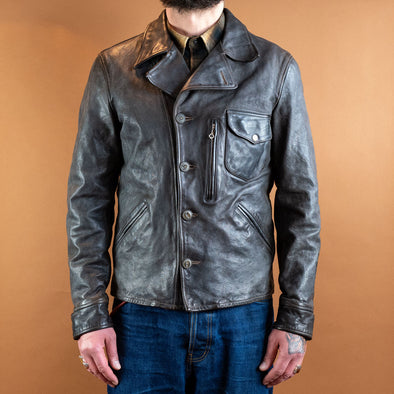Jacket Grey Buffalo Leather Grey