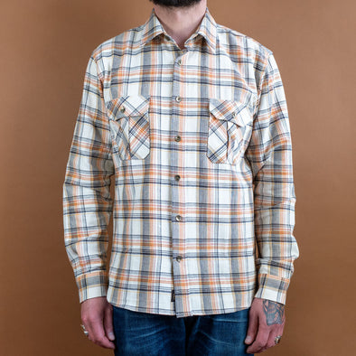 Walton Shirt Checked Flanell Beige/Brown