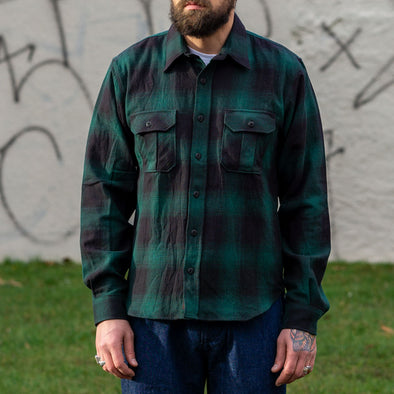 Walton Shirt Checked Flanell Black/Green