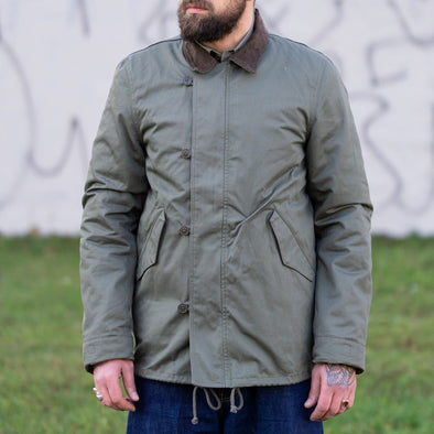 Country Jacket with Fleece Green