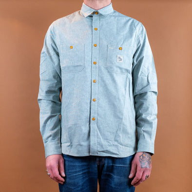 Chambray Work Shirt Green