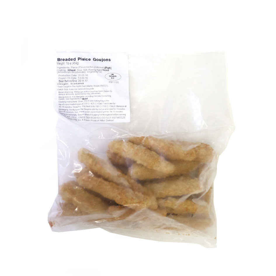Breaded Plaice Goujons 454g