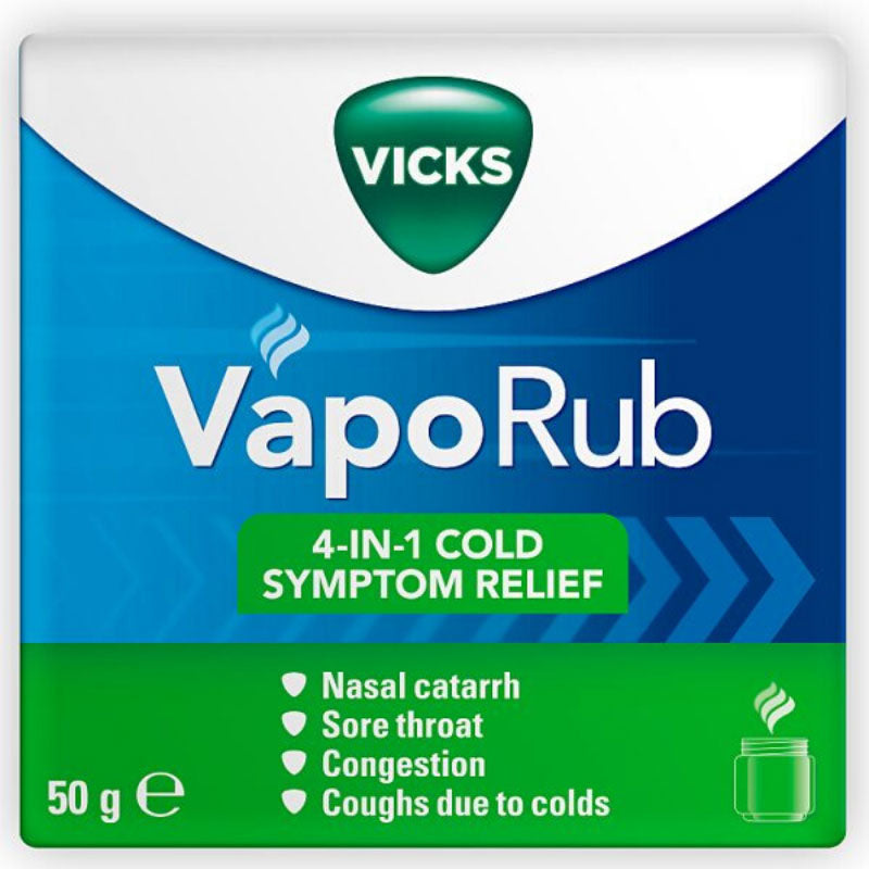 VICKS VapoRub Cold Remedy For Cough And Blocked Nose 50g