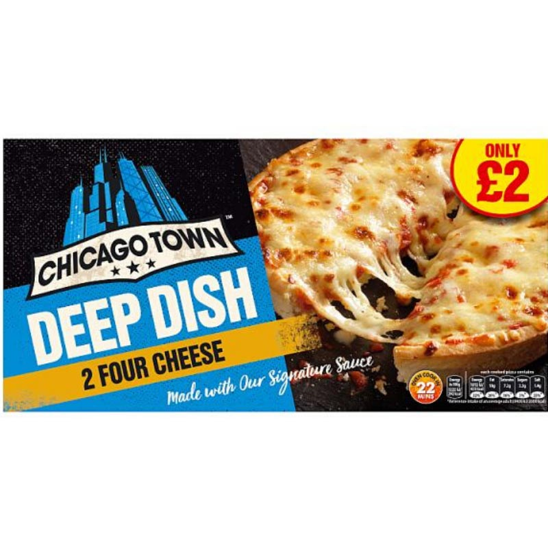 Chicago Town 4 Cheese Pizza 2x395g