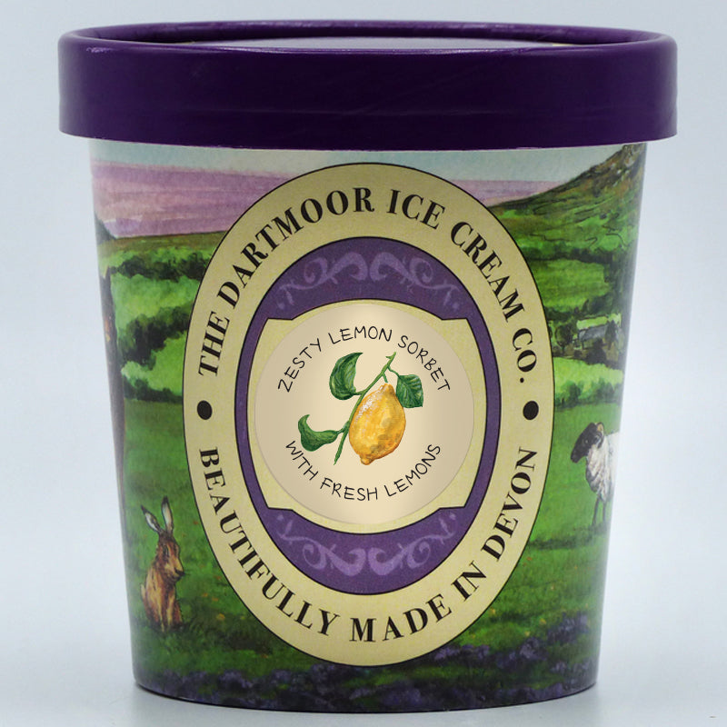 The Dartmoor Ice Cream Company - Zesty Lemon Sorbet (2 Sizes)
