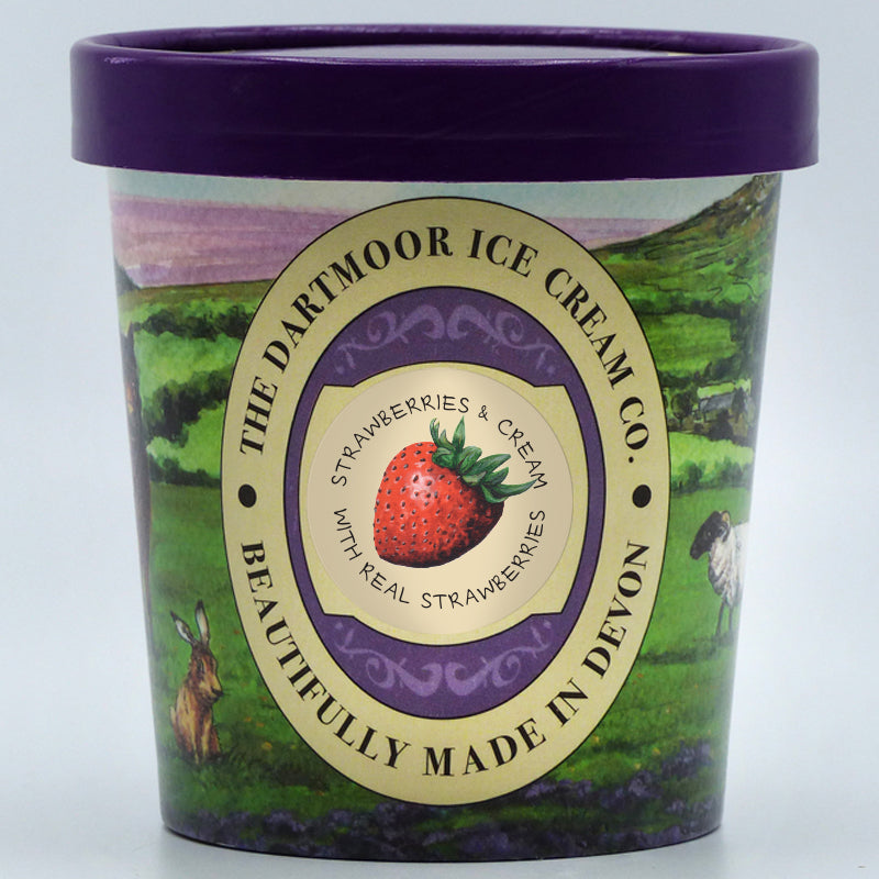 The Dartmoor Ice Cream Company - Strawberries & Cream (2 Sizes)