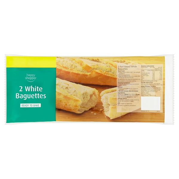 White Baguettes (to bake) 2x150g