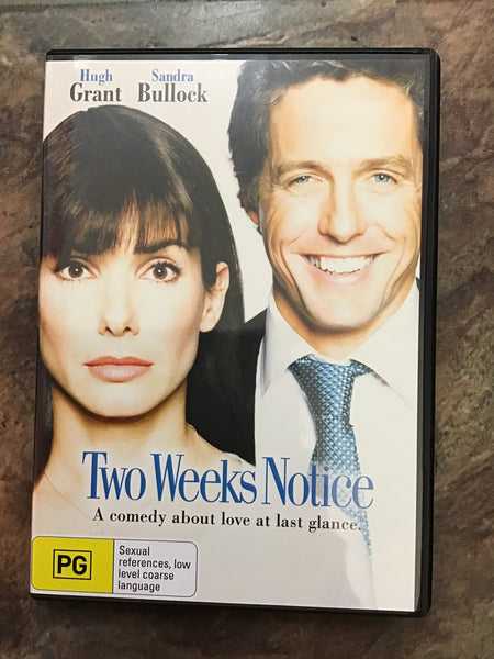 DVD - Two Week's Notice - PG - DVDRO DVDCO – GOL