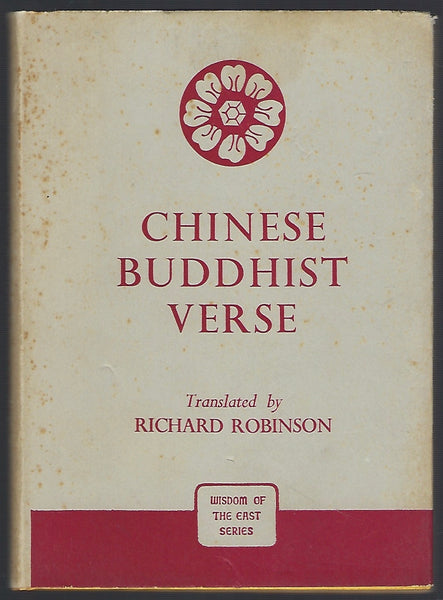 Chinese Buddhist Verse - Translated by Richard Robinson - BREL15126 - BOO