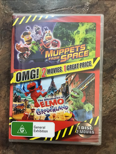 DVD -  Muppets From Space & Elmo in Grouchland - New - G - DVDKF  - GOL