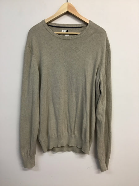 Mens Wool - Beige Long Sleeved - Size L - MW031 - GEE