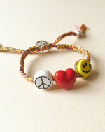 Peace, Love and Happiness Bracelet