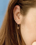 Safety Pin Earring / Rose Gold