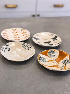 Mini Floral Hand Painted Stoneware Plates