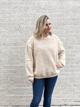 Load image into Gallery viewer, Cozy Cream Teddy Pullover