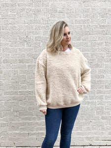 Cozy Cream Teddy Pullover