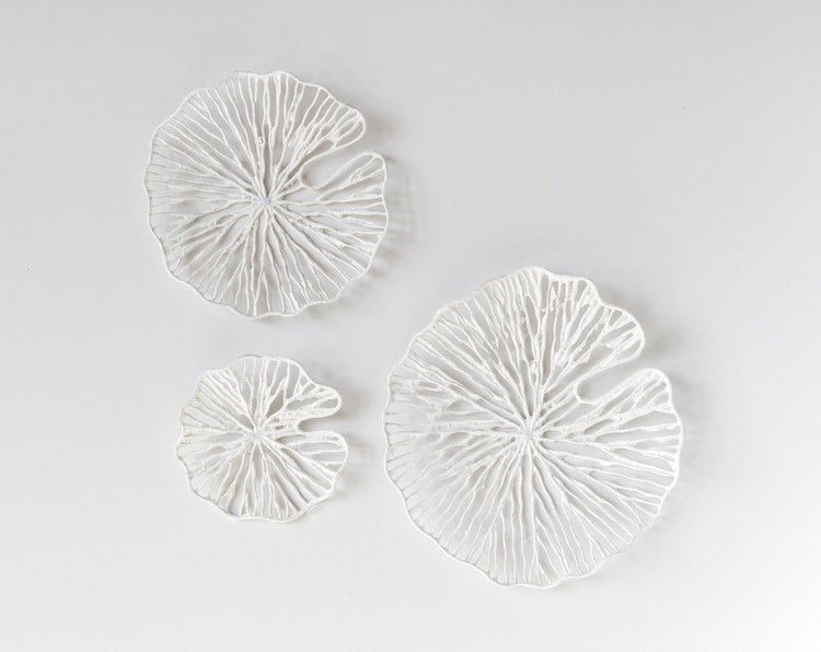 Set of 3 Round Paper & Metal Wall Art